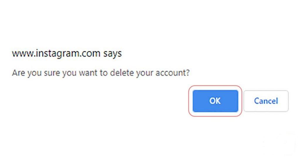 حذف اکانت اینستاگرام با کامپیوتر